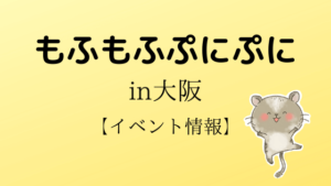 もふぷに(大阪)のイベント情報!小動物の即売会いつ?開催日時・場所はこちら!ペットの魅力を伝える!
